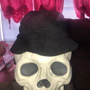 Bebe black suede hat